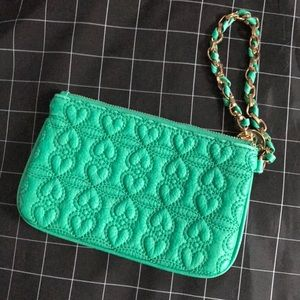 Quilted Leather Wristlet